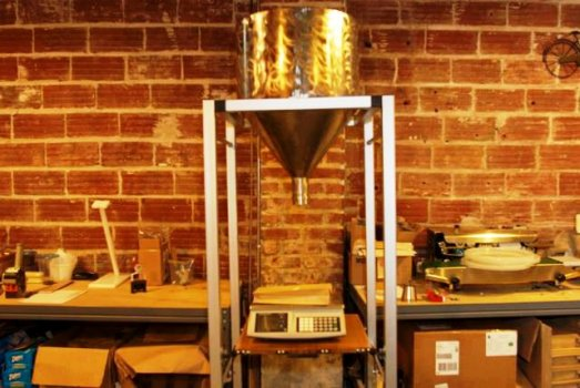 Tyler's coffee dispenser's new home at St. Johns Coffee Roasters!