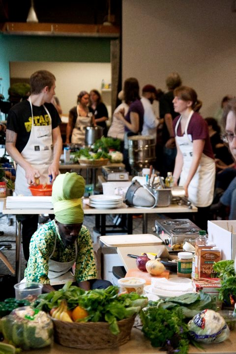 Last year's Vegan Iron Chef in Portland. Photo by Lucas DeShazer.