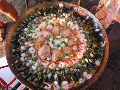 Chef Ted Coonfield's paella. He'll be cooking up paella at the Hillsdale Paella Dinner from 6-9pm on Saturday, September 10th.