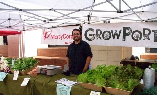 Portland Growers Alliance at the Monday Pioneer Courthouse Square Portland Farmers Market.