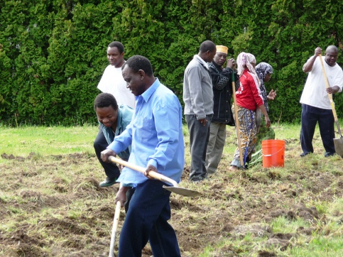 Somali growers of Mercy Corps Northwest's Agriculture Program at Westmoreland Garden.