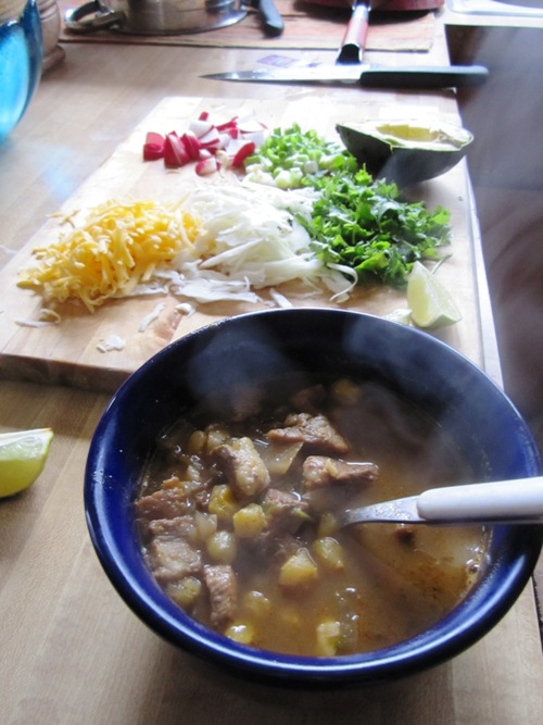 My first and favorite thing that I've cooked in a slow cooker. Posole makes me happy.