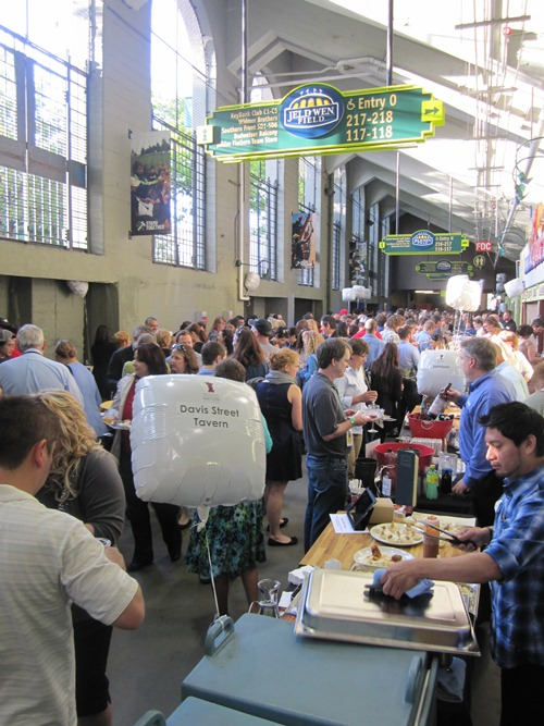 This was probably about 30 minutes into general admission. Packed but not uncomfortable because of all the natural light and air flow above. Everyone was in great spirits sampling all the food and drink and knowing that all money spent goes to a great cause.