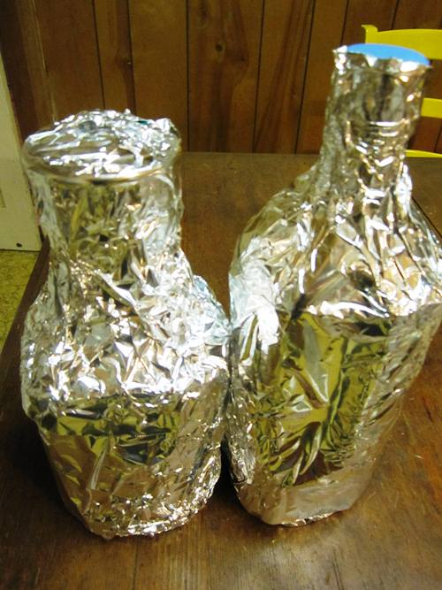 Limoncello wrapped and ready for the wait...