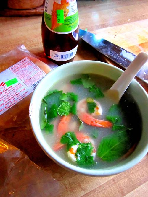 Surprised it took me so long to finally tackle Tom Yum soup. I made mine with a lot of galangal, ginger, lemongrass, lime and fish sauce and kept it simple with just prawns. I made it when I was sick with a dumb cold and it made me feel better right away.