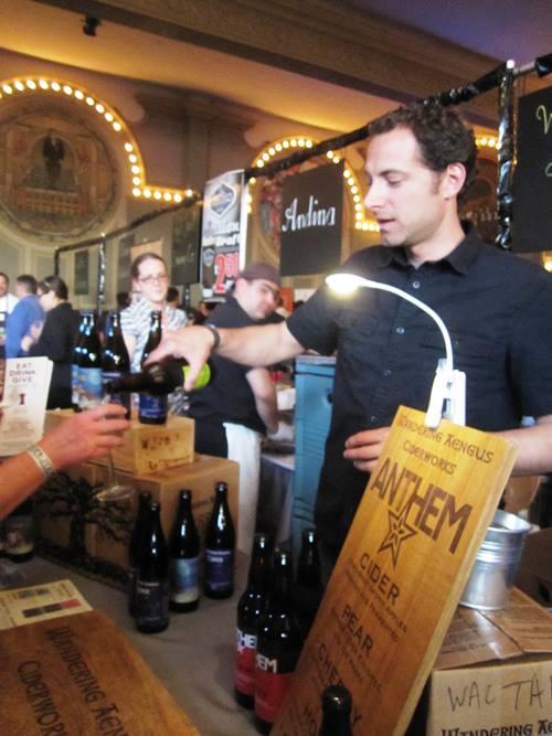 Anthem Cider's organic hops cider.