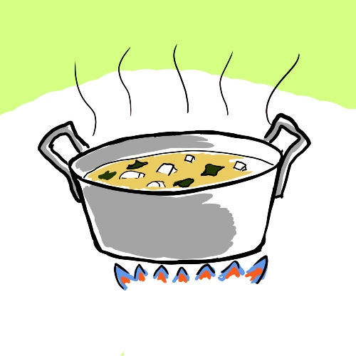 Heidi Nestler's son Ranmu Fukushima illustrated this image of miso soup for one of her upcoming Japanese cooking classes at the Urban Farm Center.