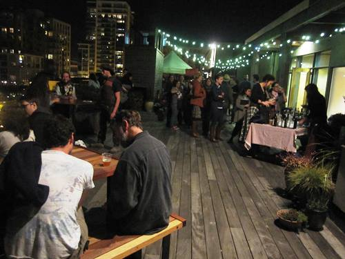 Party on the rooftop with DJ Pickle Barrel, Reverend Nat's Hard Cider, Upright Brewing and Bingo Sandwiches.