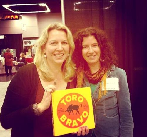 Me and the amazing Cheryl Strayed who blurbed the book and has been huuuugely supportive at Wordstock!