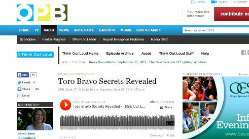 John talks about all things Toro Bravo and the cookbook on OPB's Think Our Loud.
