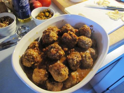 Alec and Sarah's Moorish Meatballs.