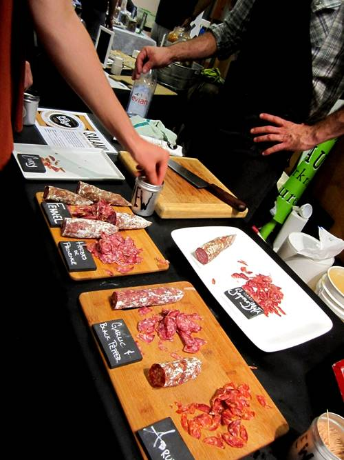 The awesome salame spread from Chop Butchery & Charcuterie.