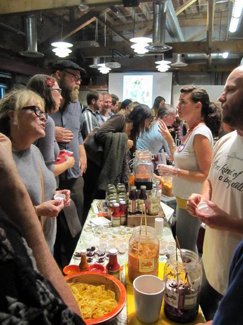 Connie and Brian Shaw of Oregon Brineworks with all kinds of super tasty ferments including fermented hot sauce and ketchup, beet kvass, ginger gold kvass and more. Love these guys.