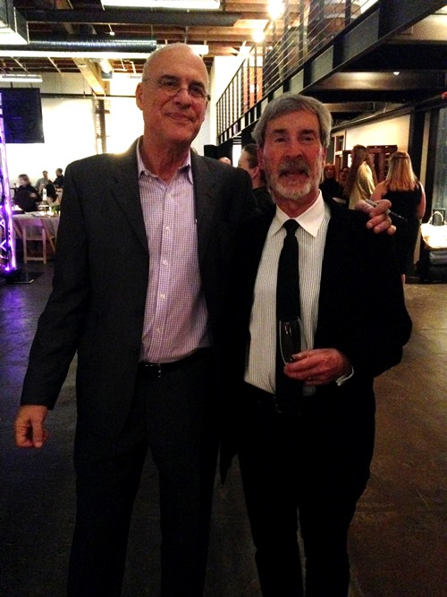 Mark and James Beard Public Market executive director Ron Paul at the end of the night.