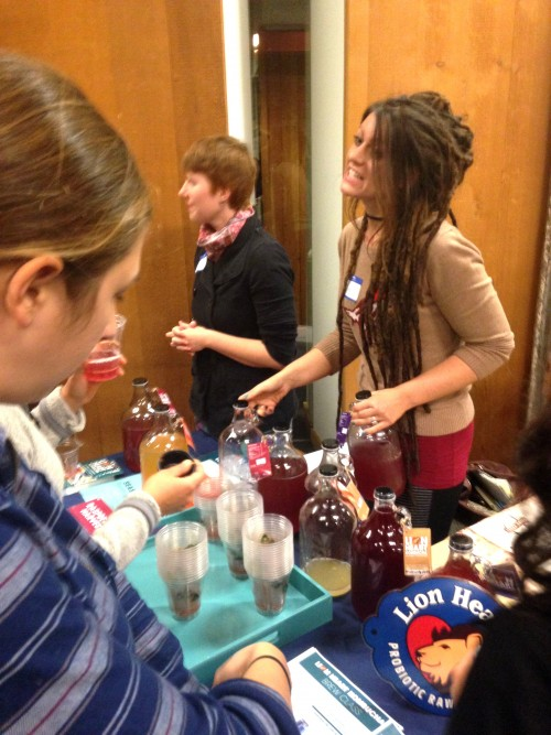 Olive Evelyn Bailey of Lion Heart Kombucha serving up all kinds of delicious fruity kombuchas. I tried the raspberry and it was deeeeelicious!