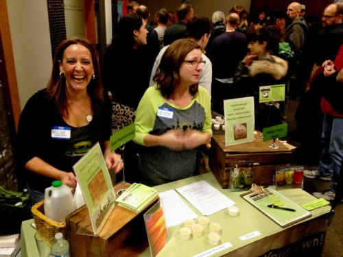 First time fest exhibitors Sue and Wendy of NW Ferments (they sell all sorts of fermentation starter cultures) sampling their tasty kombucha.