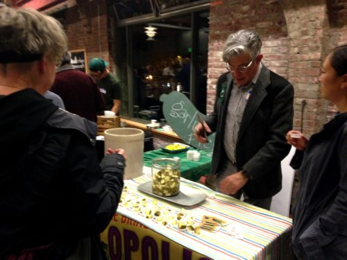 Festival co-organizer David Barber of Picklopolis sampling his always delicious sour dills. One of my favorite pickles on the planet.