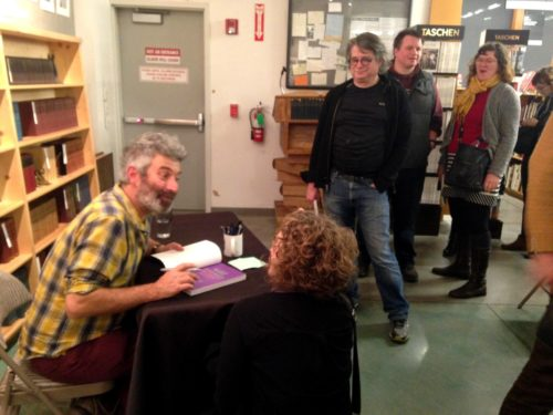 Long line of folks after waited to talk to Sandor and get their 2nd edition of Wild Fermentation signed.
