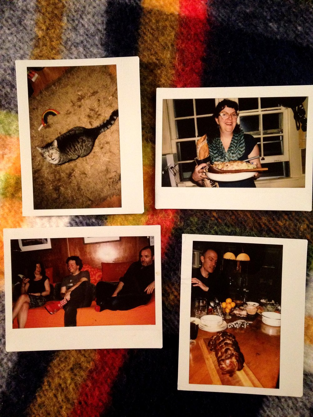 Some of Faulkner and other's instant photos from the dinner.