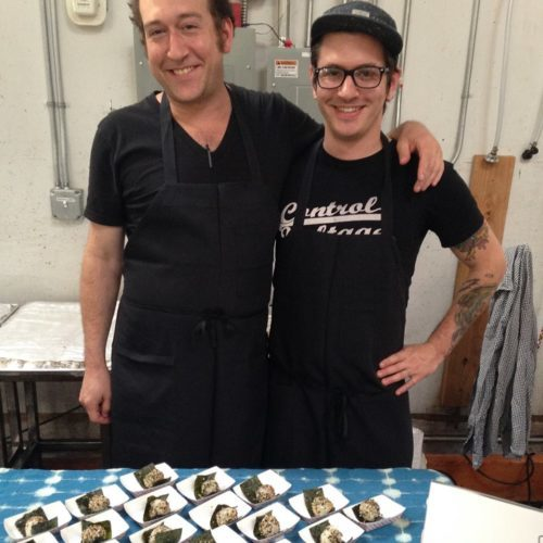 Gabe Rosen and Ian of Biwa/Noraneko/Parasol. Their onigiri was awesome!