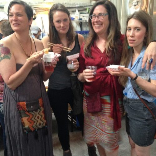 Party lovelies! Left to right: Sarah Hart, Dory Athey, Rhonda Hughes, Alisha Gorder.