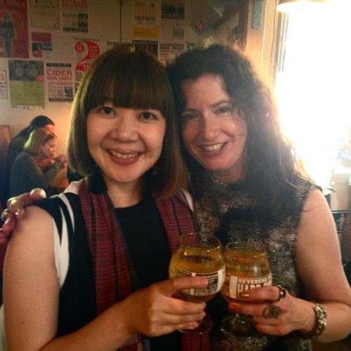 Me and Etsuyo Okajima — my Tokyo friend and one of the editors of the Japanese editions of True Portland. Happy.