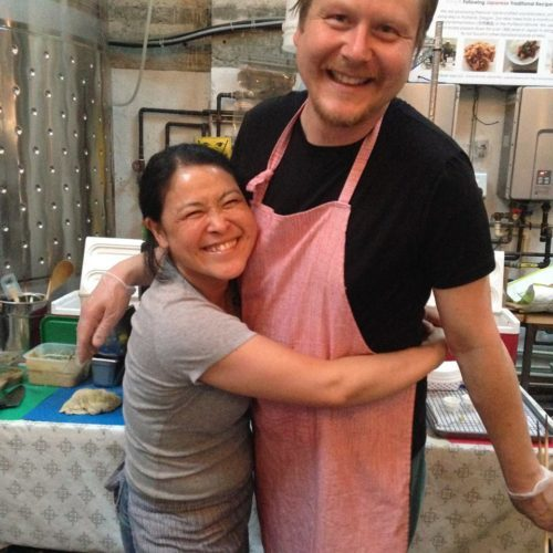 Fumiko Hozumi and Jason Duffany of Obon PDX. I had never had their food before and it was so yummy! Will definitely be checking them out and you should too — obonpdx.com.