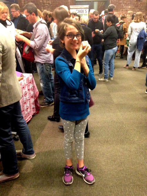 My youngest in the best friends realm -- almost 11-year-old Kylie (my Michelle's daughter). She loooooves the Portland Fermentation Festival. Her favorite tastes this year were Heidi's natto and a couple of the kombuchas.