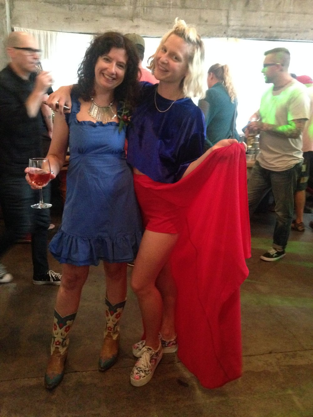 Me and super sweet Andi Bixel of  Drip Sweets  right before her inspiring talk. Our kind of patriotism shining through.
