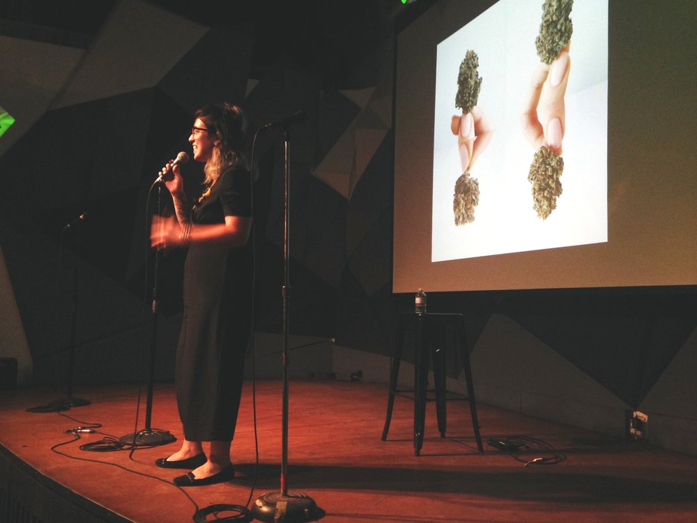 After Mary,  Emma Chasen  took the stage for her talk  Counter Culture: Re-framing Your Relationship with Cannabis in a Dispensary Environment.  Tips on how to make the most of your dispensary or rec shop visits. I learned a lot.