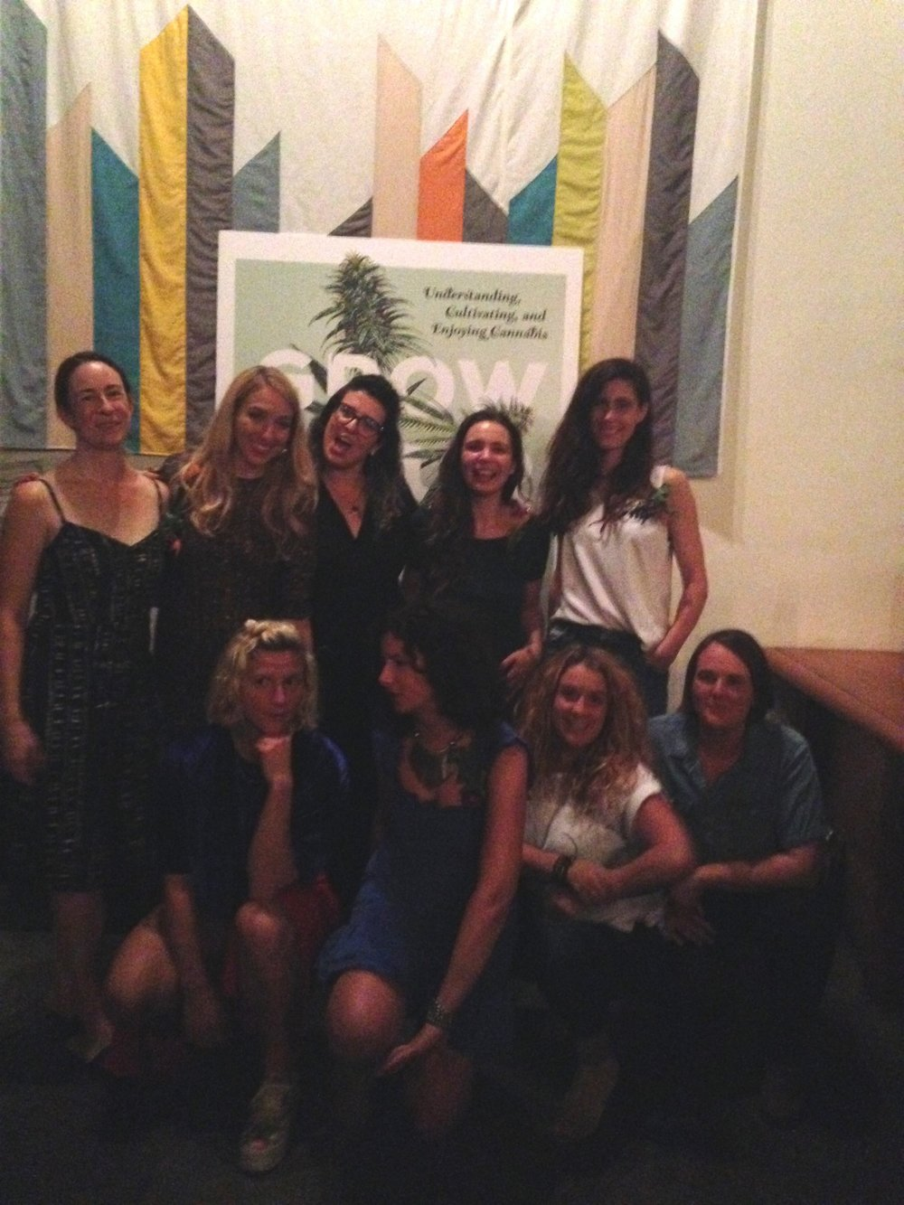 We got all the speakers together and then some for this sweet shot. Women in cannabis!!!