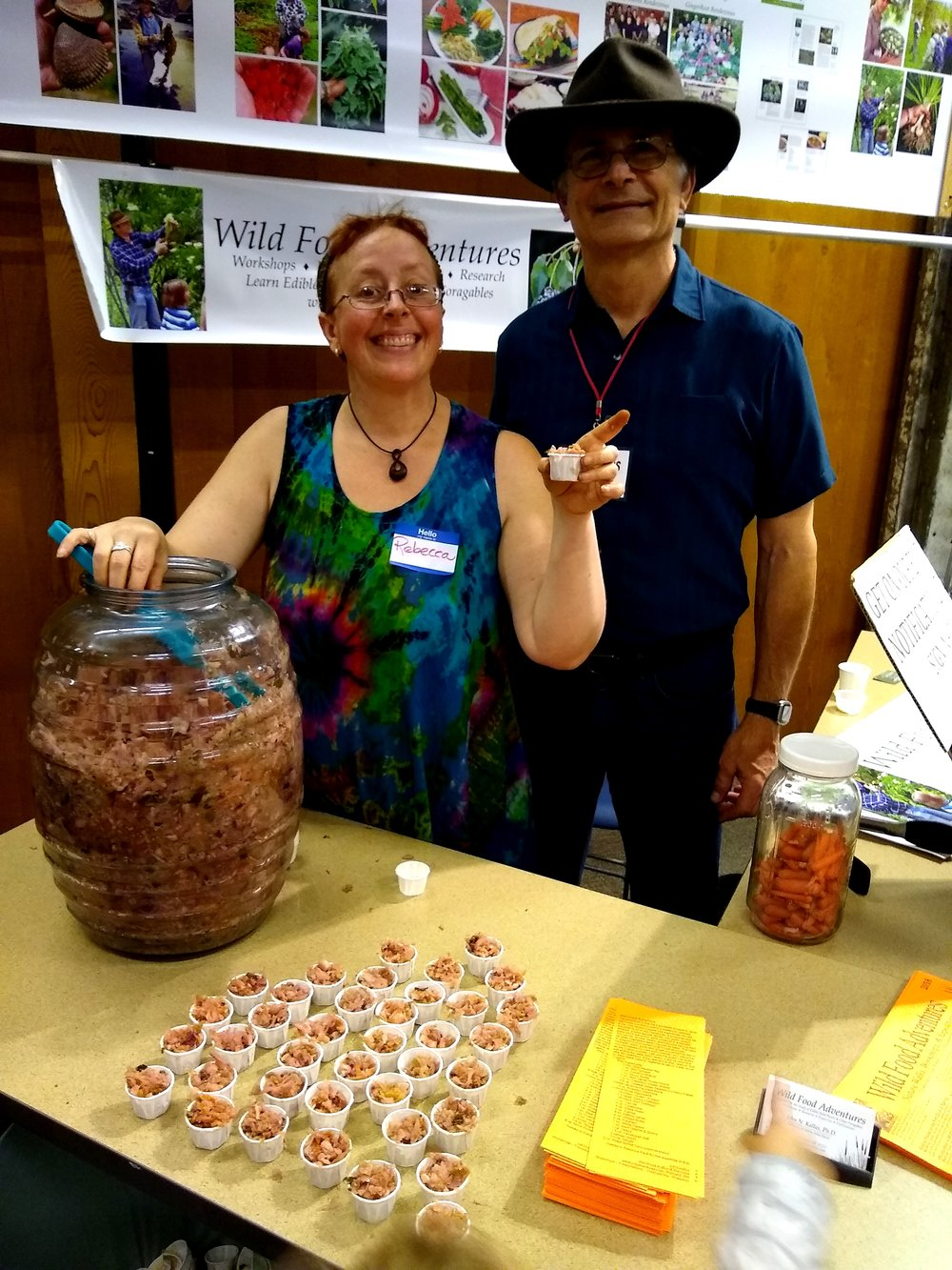 So fun having Wild Food Adventures at this year's festival. John Kallas and Rebecca Humility sampled their locally foraged wild edibles kraut which included everything from wild blackberries and wood sorrel, to wild carrot flower heads, dandelion flower petals, common mallow and much, much more. So cool!