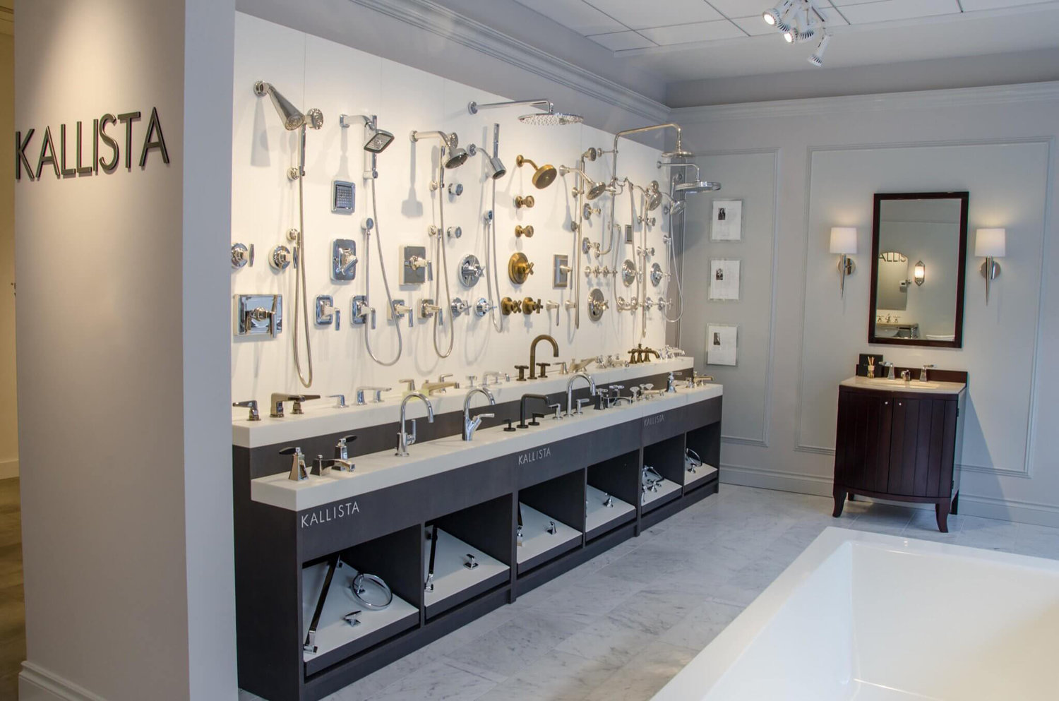 showroom display for kallista s faucets and fixtures conceptworks