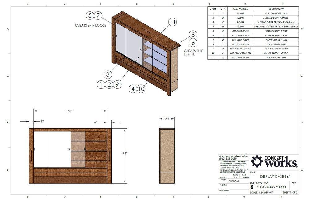 Display Case Drawing