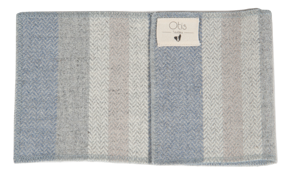 Our inspiration came from Scotland (where it's woven) and the Hampton's brisk winter. This fabric is upholstery weight, soft and durable. Stripes come off the roll vertically. -