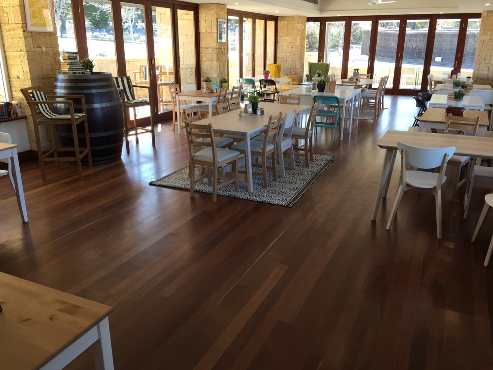 cafe timber floor