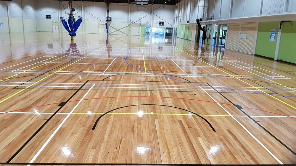 gym floor installation