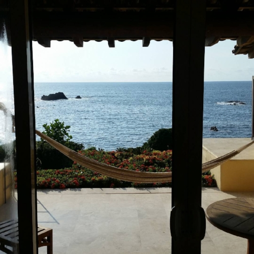 Upgraded ocean front room at Four Seasons Punta Mita.