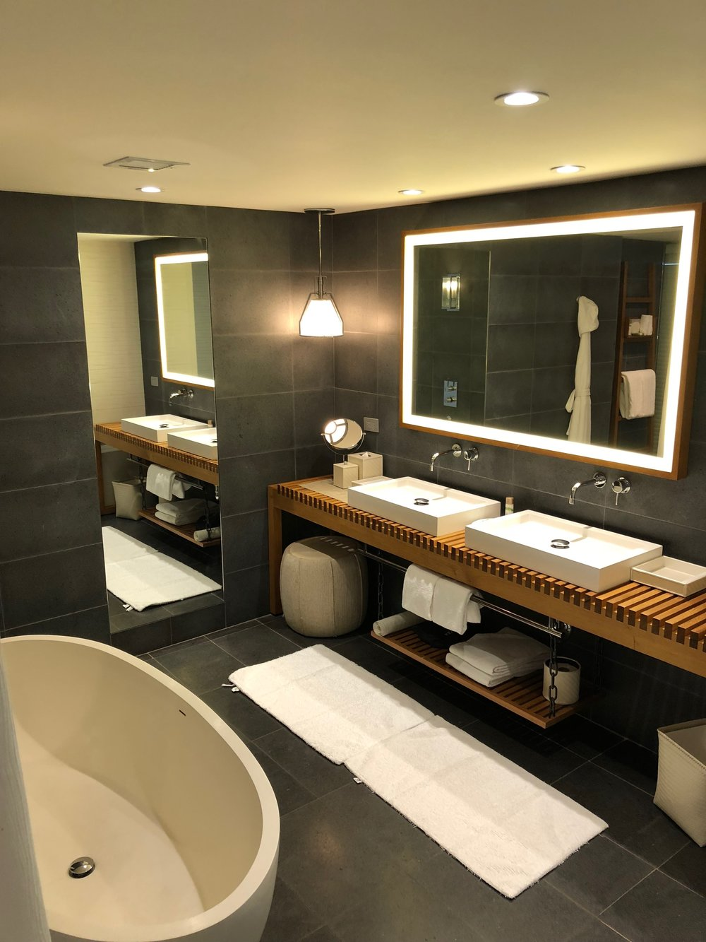 Bathroom of the Deluxe Suite