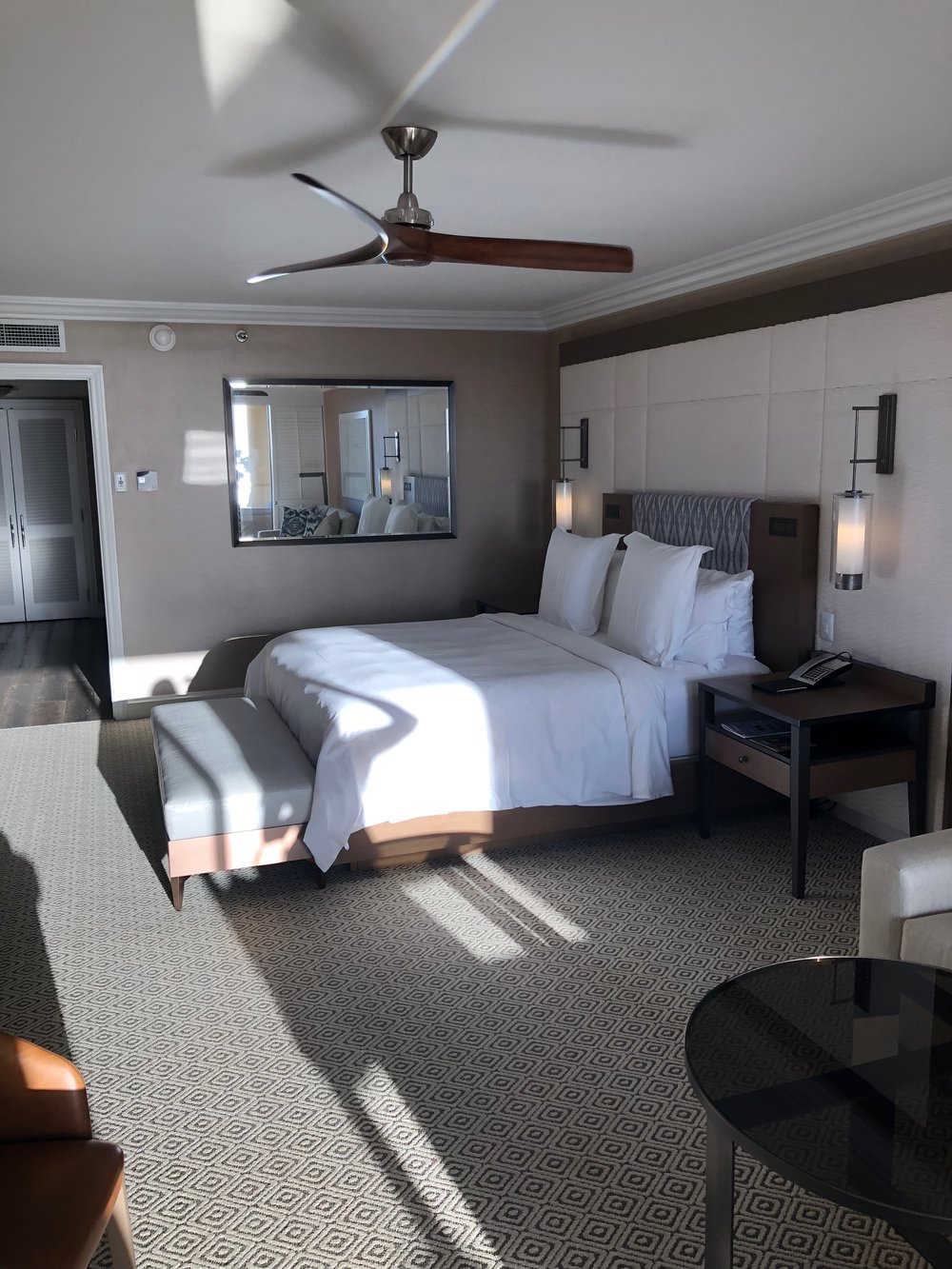 Bedroom of the Ocean View Suite