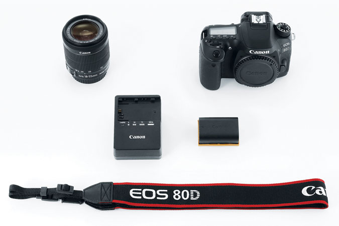 Canon EOS 80D Digital SLR Kit with EF-S 18-55mm f/3.5-5.6 Image Stabilization STM Lens -  - 45-point all cross-type AF system* that provides high-speed, highly precise AF in virtually any kind of light. - 24.2 Megapixel (APS-C) CMOS sensor- Full HD 60p - Vari-angle Touch Screen 3.0-inch Clear View LCD monitor II- ISO 100-16000 (expandable to 25600) for stills and ISO 100–12800 (expandable to 16000/25600) for movies for outstanding performance in bright to dim light.AVAILABLE NOW ON CANON FOR $799.20