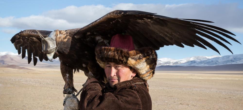 Detail from 'Kazakh Eagle Hunters of Mongolia' series. Copyright Sarah Jenkins, 2017.