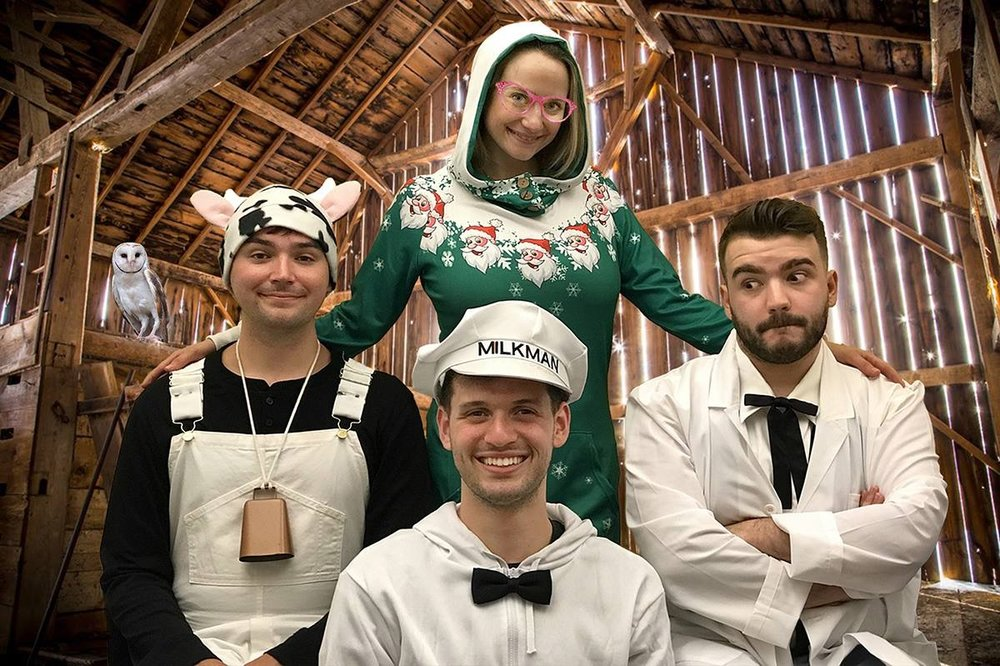 Promotional shot for Cow's Nutty Christmas . (2018)