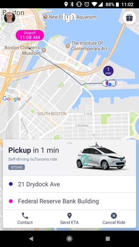 写真は、TechCrunch ' Lyft's self-driving pilot with nuTonomy begins rolling out in Boston '