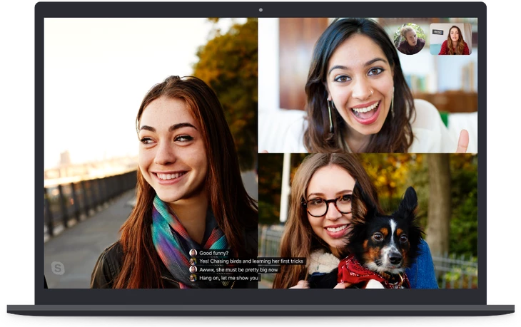 画像は、 TechCrunch 'Skype launches real-time captions and subtitles' より