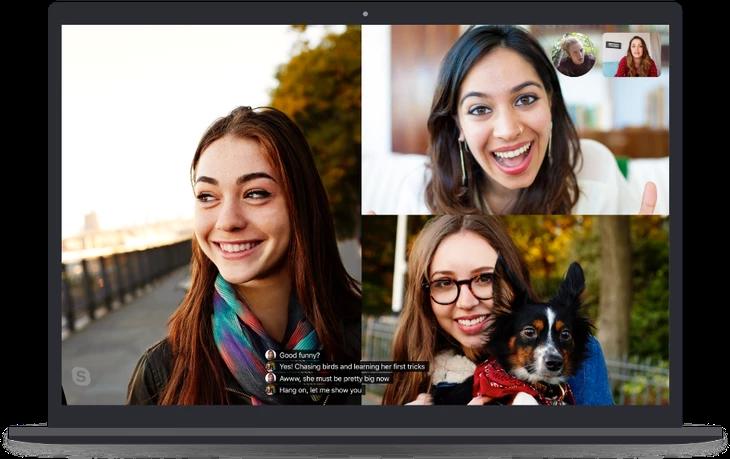 画像は、 TechCrunch 'Skype launches real-time captions and subtitles' より
