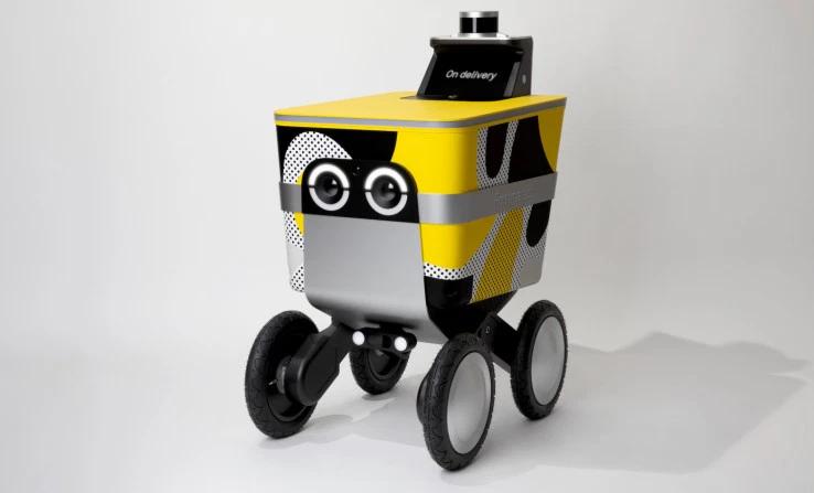 画像は、TechCrunch  'Postmatesの自動走行配達ロボServeはフレンドリー' より