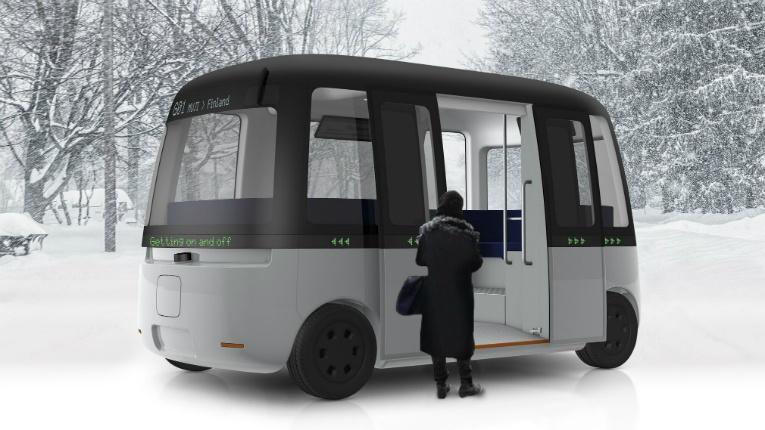 イメージは、goodness from Finland ' Sensible 4 and MUJI create all-weather robotobus '