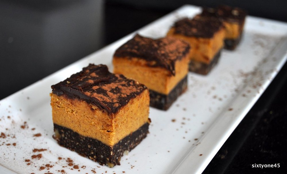 Pumpkin Nanaimo Bars by sixtyone45