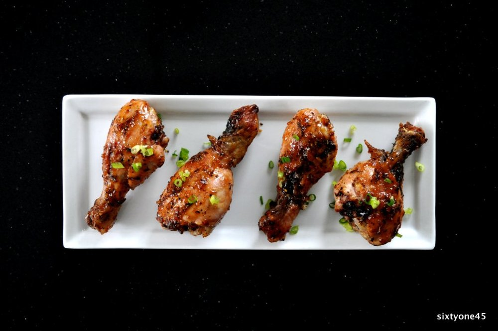 Sticky Citrus Grilled Drumsticks by sixtyone45